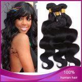 Extensão não processada humana peruana do cabelo da onda do corpo de 100%