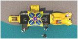 Компактная пластичная напольная спортивная площадка с Multi скольжениями, альпинистом и лестницей