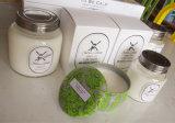Bougie parfumée décorative personnalisée de soja en glace avec le couvercle en métal