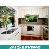 Muebles elegantes blancos de la cabina de cocina del PVC de la laca (AIS-K098)