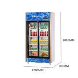 vertical 518L debajo de la unidad que resbala el refrigerador de la visualización de la Multi-Puerta