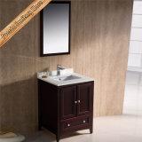 水晶上の単一の流しの木製の浴室用キャビネット