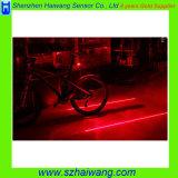 5개 + 2개의 LED 세륨 & RoHS를 가진 옥외 레이저 광 자전거 자전거 레이저 광선 후방 미등