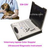 El color veterinario Doppler Ew-C8V del explorador del ultrasonido del ordenador portátil más barato con la punta de prueba convexa C3r50 para abdominal y la reproducción