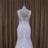 Vestidos de casamento longos do comprimento do assoalho das luvas