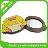 Espejo de maquillaje personalizada diseño de dibujos animados de goma (SLF-RM008)