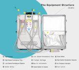 equipamento dental portátil interno silencioso de compressor de ar 550W