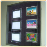 Agente imobiliário LED Window Display Slim Crystal Light Box