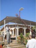 Luz de calle solar integrada caliente de la venta 6W-80W con el sensor de movimiento