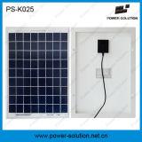 système du d'éclairage 7ah solaire portatif avec le remplissage de téléphone de ventilateur