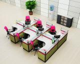 Het in het groot Werkstation van de Verdeling van het Bureau voor het Werkstation van het Personeel van Bureau 6 Seater (HF-YZQ516)