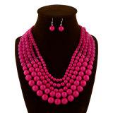 Conjunto de la joyería del collar del pendiente de la declaración de los granos de la manera