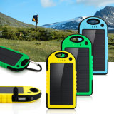 5000 mAh Dual-USB Waterproof Solar Power Bank Battery Charger for Cell Phone