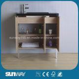 Heißer Verkaufs-hölzerne Furnier-Blattbadezimmer-Möbel mit Wanne