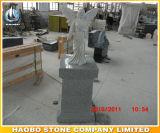 Coluna monumental da cremação do projeto dos anéis do suporte do granito