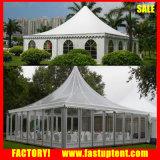 Weißes hohe Spitzen-Pagode-Festzelt-Zelt mit Fußboden