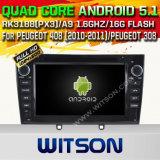 Véhicule de l'androïde 5.1 de Witson DVD GPS pour Peugeot 408 (2010-2011) /Peugeot 308 avec le support de l'Internet DVR du WiFi 3G de ROM du jeu de puces 1080P 16g (A5634)