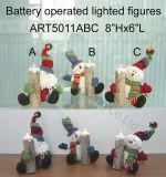 Beleuchtung-Kerze-Weihnachten Decoration-3asst der Sankt-und Schneemann-Holding-LED