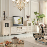Mobilier de maison de luxe à la mode Best Seller Antique White Wood TV Stand