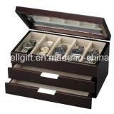 Hölzerner Uhr-Kasten mit Abziehvorrichtung-Kammerdiener