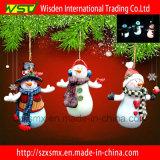 Украшение рождественской елки с рождеством СИД светлым орнаментирует снеговик