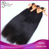 O cabelo 100% humano de Remy do Virgin natural de Stright da cor tece o pacote