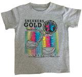 ホイルプリントSqt-608が付いている子供の衣服のための日光の男の子のTシャツ