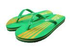 Poussoirs d'hommes de courroie de PVC de plage de couleur verte