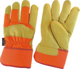 Wasserdichtes Kuh-Korn-Leder völlig Thinsulate Glove-3141