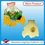 Perni su ordinazione del distintivo del metallo di disegno del programma con argento placcato nella buona qualità