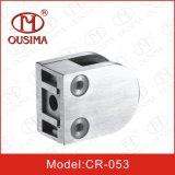 L'acier inoxydable la broche en verre de bride de moulage mécanique sous pression pour le tube de balustrade (CR-053)