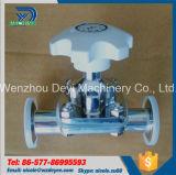 Válvula de diafragma manual sanitária de Ss304 Aspetic
