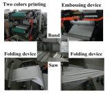 Máquina plegable grabada de papel de la servilleta del tejido del equipo de proceso