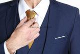 濃紺細い適合のオフィス均一ビジネスコートのパンツスーツ