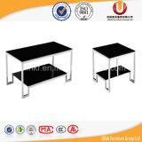 Table basse en verre moderne de pattes en métal (UL-STB36)