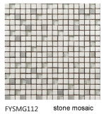 水晶ステンレス製の大理石混合された様式のモザイク(FYSMG112)