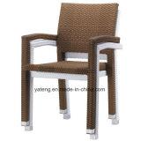 대중적인 디자인 옥외 실내 쌓을수 있는 의자 알루미늄 PE 등나무 의자 (YTA098)