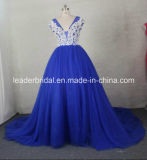 O baile de finalistas do partido de Diamante veste o azul de Champagne que perla o vestido de noite Gv2016