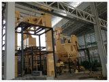 Multi materiali, legno, segatura, linea di produzione della pallina della buccia del riso