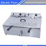 Máquina que fríe con mucha grasa Dzl-800 de la sartén de los tanques eléctricos del doble
