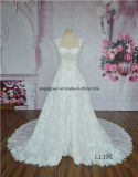 取り外し可能なスカートが付いているセクシーなレースの婚礼衣裳
