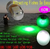 夜Pond Fishing12V Underwater Fishing LED Light Deep Water 50m LED Fishing Lure Green Submersible Fishing Light 60W