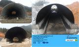 大口径の電流を通された波形の鋼鉄配水管の排水渠