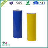 Cinta azul y amarilla del embalaje del color BOPP con la adherencia fuerte
