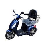 Сейф управляя трициклом 3 колес электрическим, электрическим самокатом удобоподвижности для старые люди (TC-016 с люкс седловиной)