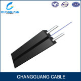 Telecom Level Indoor Bow-Type FTTH Drop 2 Core Fiber Cable