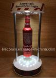 Présentoir acrylique de flottement magnétique de bouteille à bière de technologie neuve pour la publicité