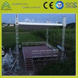 Etapa antirresbaladiza e impermeable de la madera contrachapada de aluminio del funcionamiento el 1.22m*1.22m