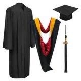 Economie Bachelor Graduation Robes et casquettes Matte Black