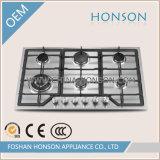 Fornello di gas della fresa del gas del ghisa dei bruciatori dell'acciaio inossidabile 6